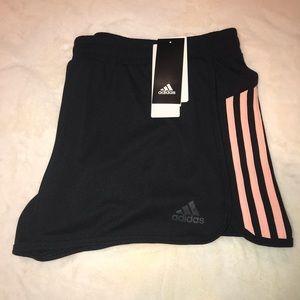 ✨Adidas✨Climalite Peach Striped Running Shorts